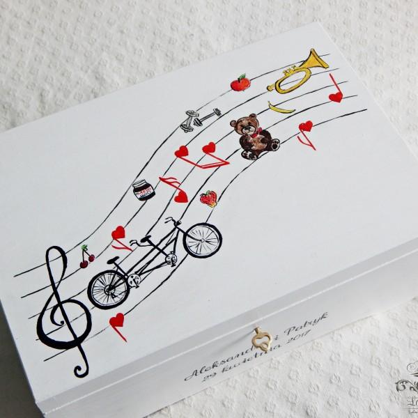 Muzyczna skrzynia na koperty