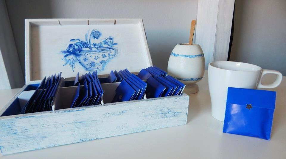 zestaw herbaty niebiesko mi