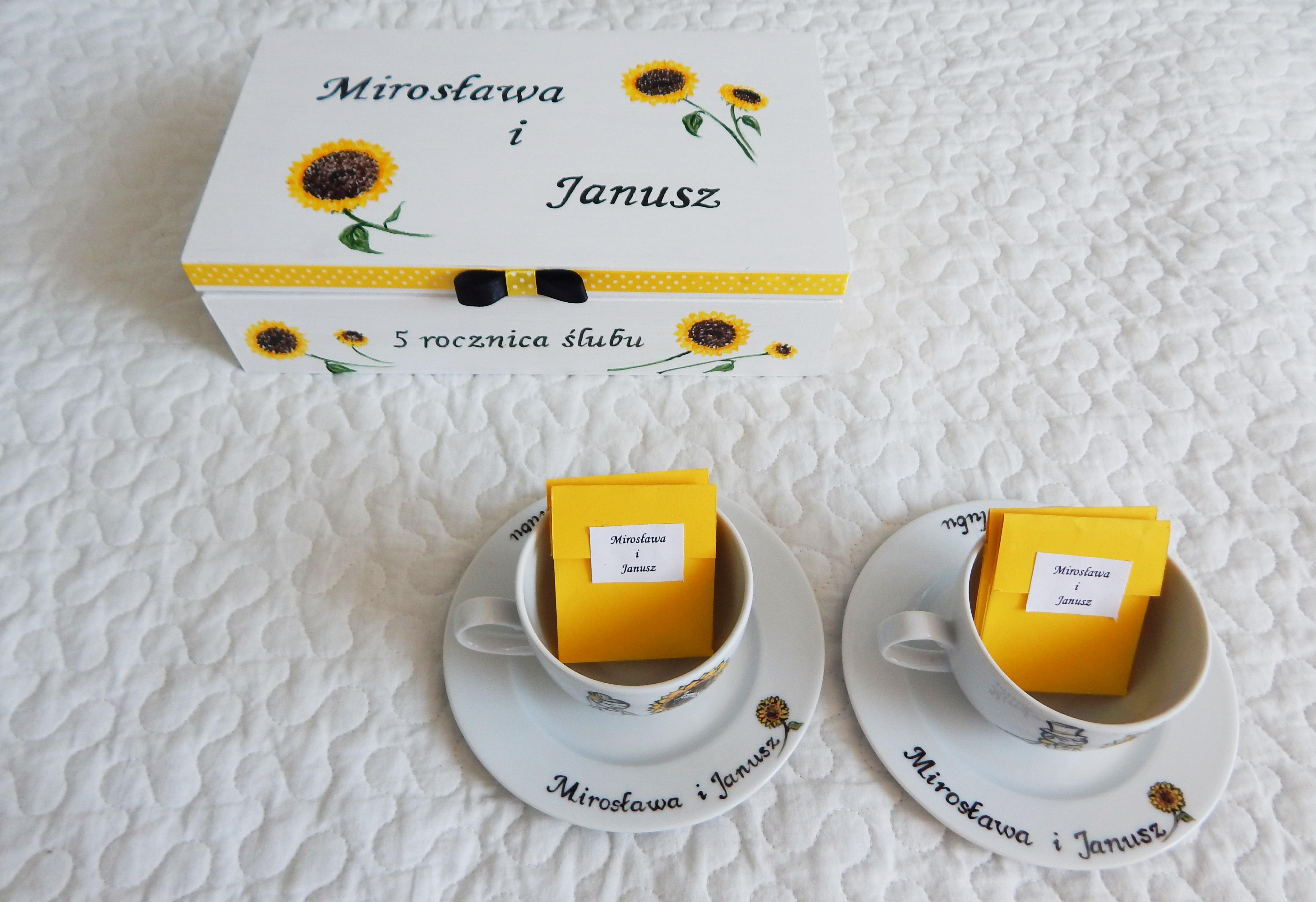 zestaw na rocznicę słoneczniki