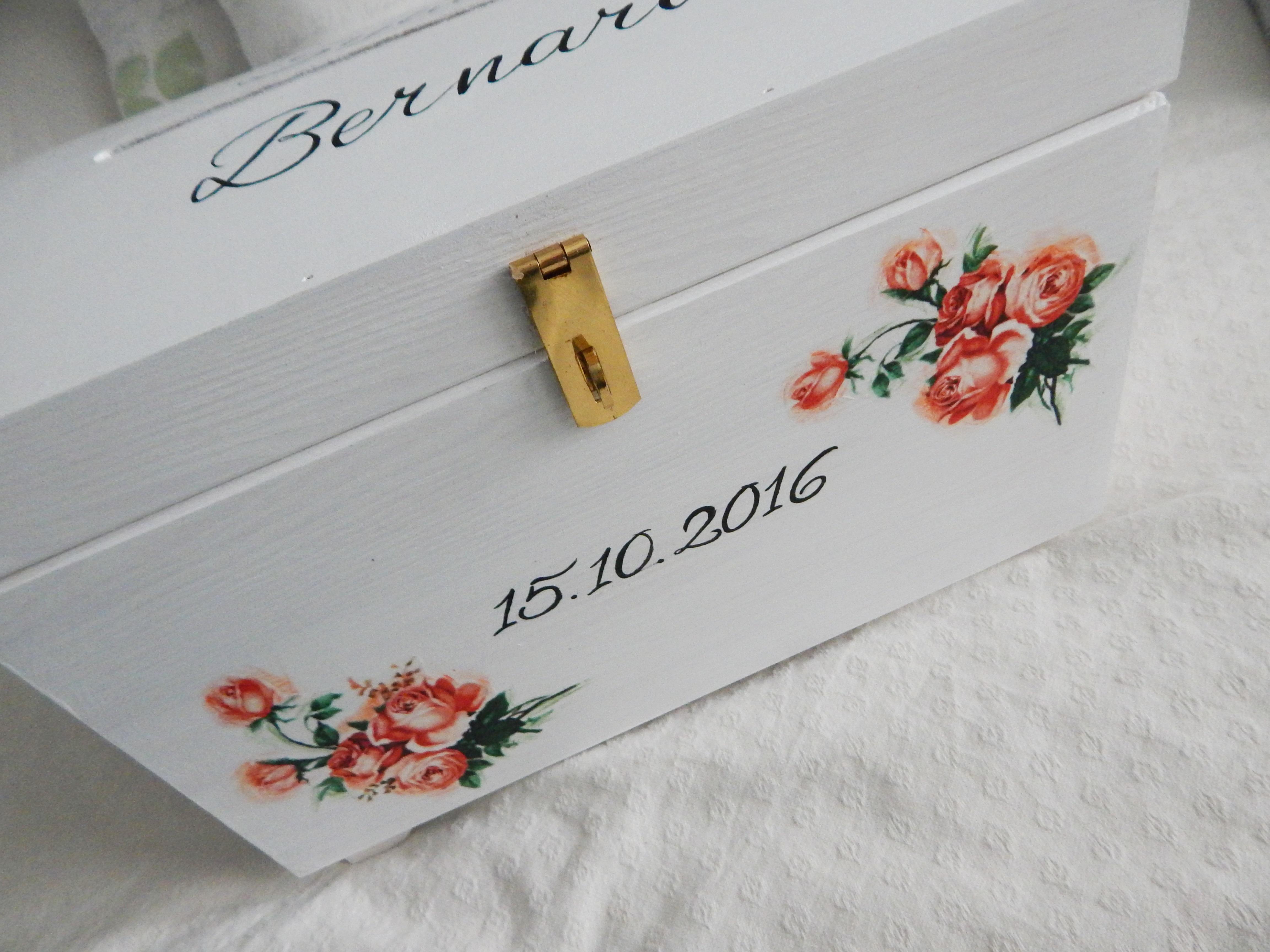 skrzynia na koperty róże w pomarańczu2