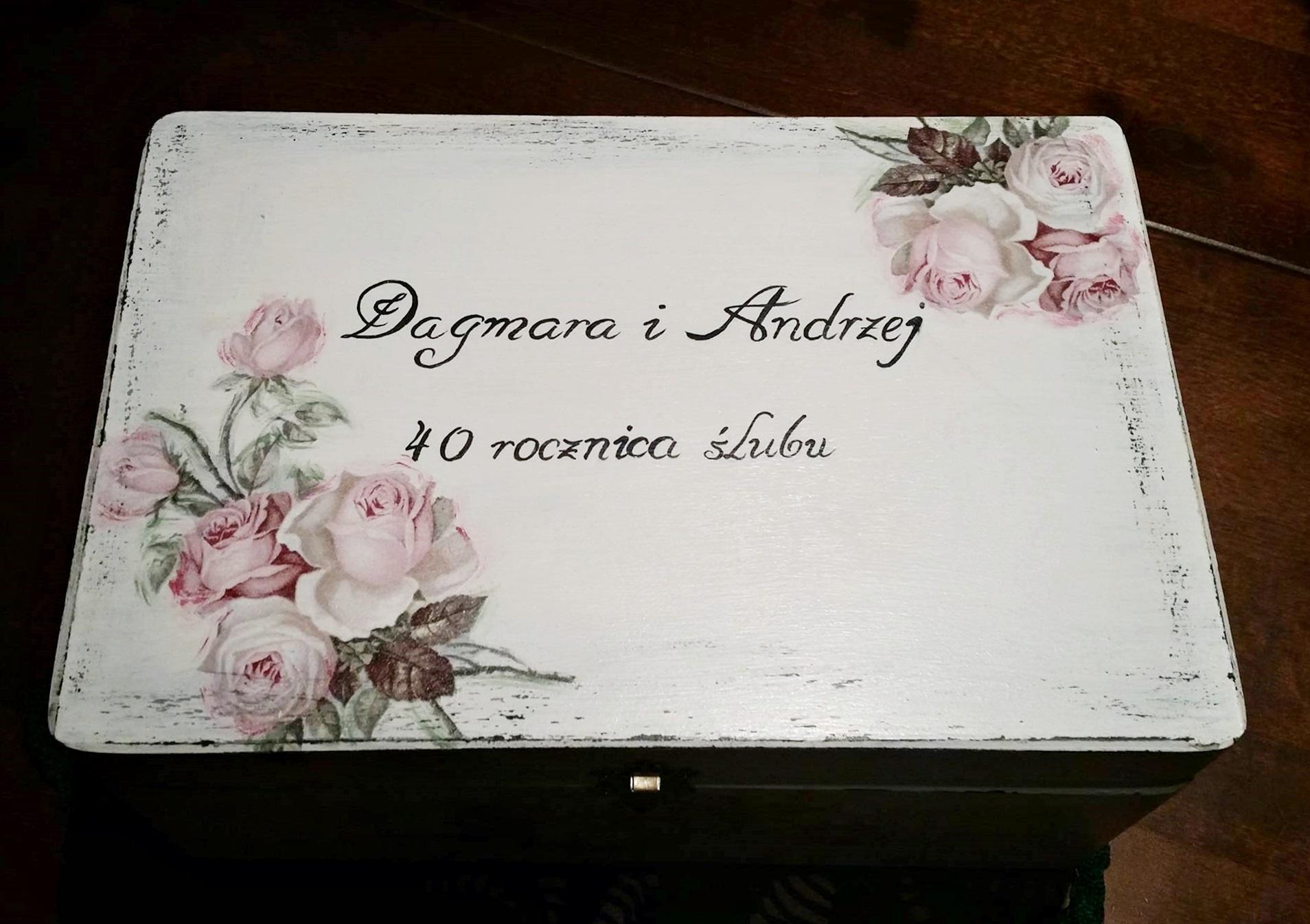 zestaw różany na rocznicę