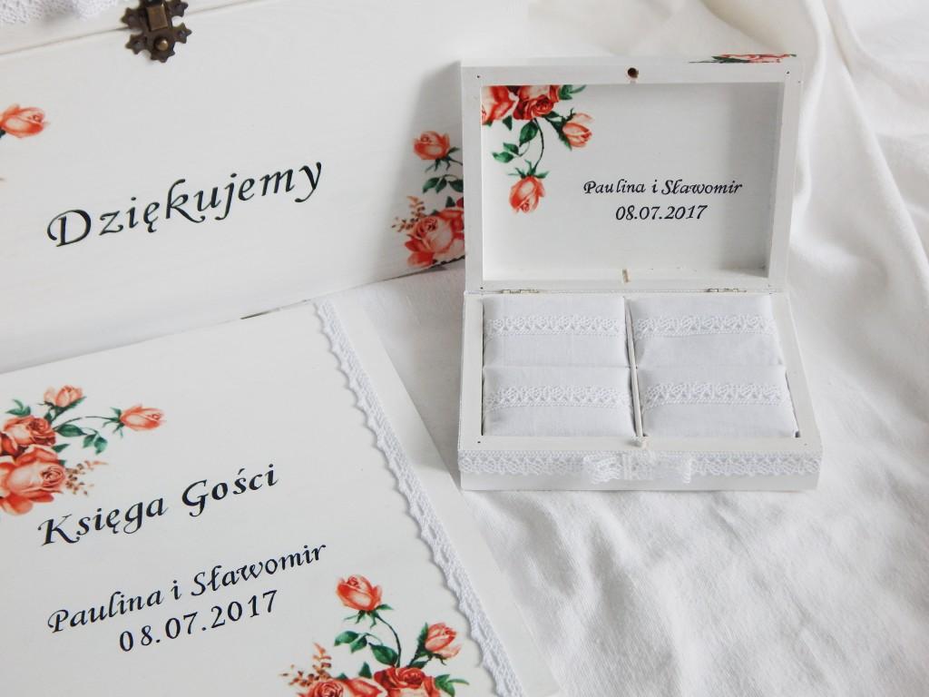 Ślubny zestaw Pomarańczowe róże3
