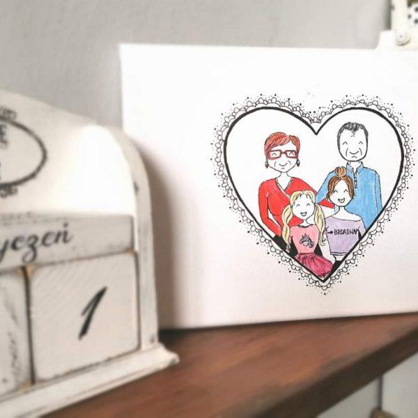 Obraz rodzinny portret Babcia i Dziadek